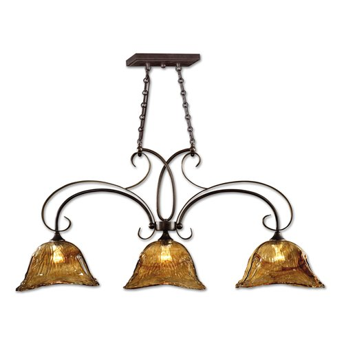 Uttermost Vetraio 3 Lt Bronze Kitchen Island Light