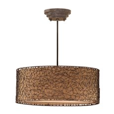 Uttermost Brandon 3 Light Brown Drum Pendant