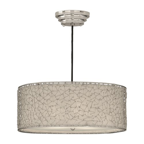 Uttermost Brandon Silver 3 Light Drum Pendant