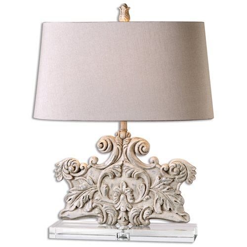 Uttermost Schiavoni Ivory Stone Table Lamp