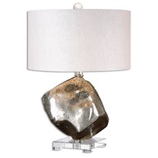 Uttermost Everly Silver Glass Table Lamp