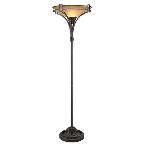 Uttermost Verduno Rust Black Floor Lamp