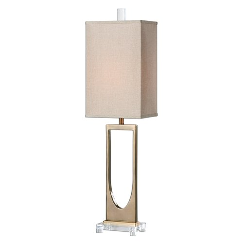 Uttermost Genivolta Brushed Brass Lamp
