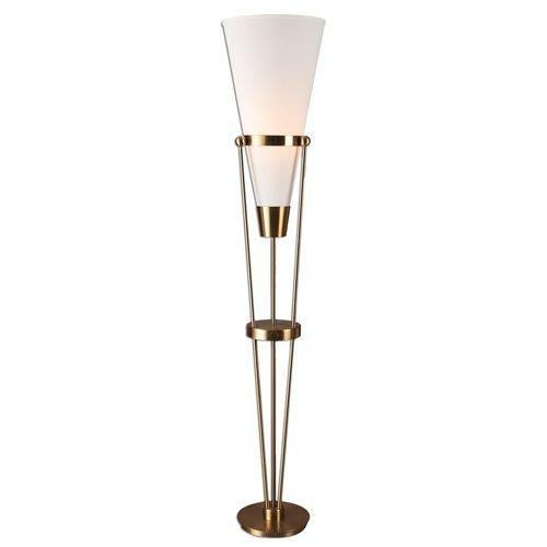 Uttermost Bergolo Brushed Brass Floor Lamp