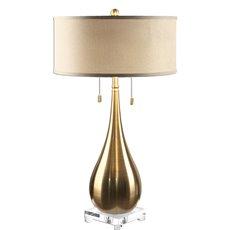 Uttermost Lagrima Brushed Brass Lamp