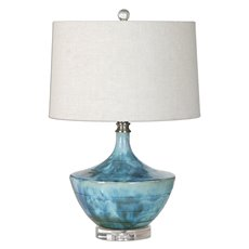 Uttermost Chasida Blue Ceramic Lamp