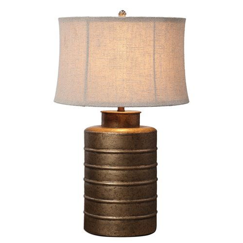 Uttermost Antiqued Gold Bamiro Lamp