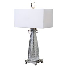Uttermost Ostola Smokey Glass Lamp