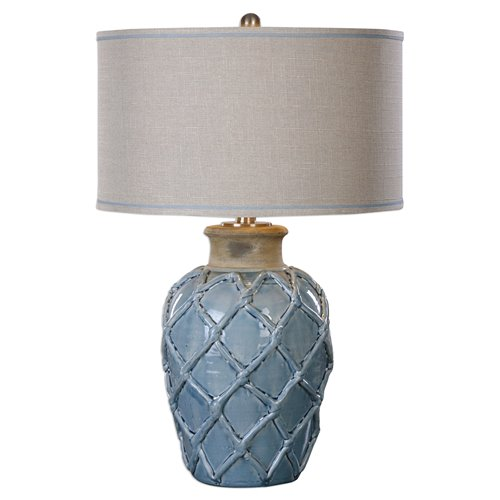 Uttermost Parterre Pale Blue Table Lamp