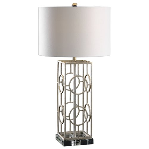 Uttermost Mezen Silver Table Lamp