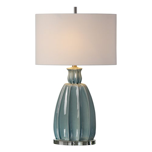 Uttermost Suzanette Sky Blue Ceramic Lamp