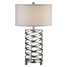 Uttermost Serpentine Burnished Silver Lamp