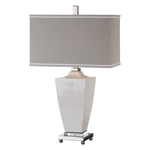 Uttermost Rochelle White Glaze Table Lamp