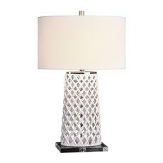 Uttermost Dania White Table Lamp