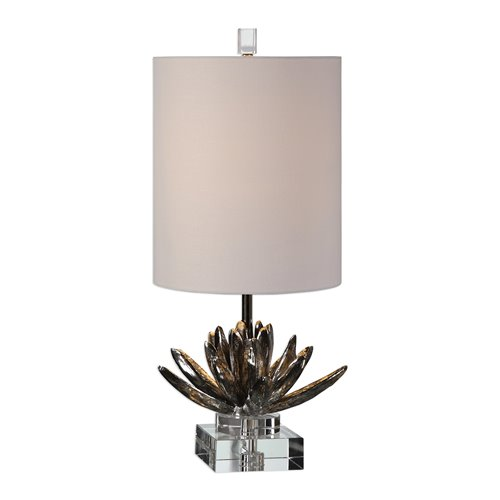 Uttermost Silver Lotus Accent Lamp