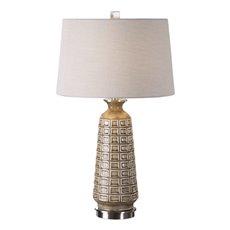 Uttermost Belser Brown Glaze Table Lamp