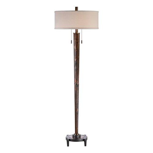 Uttermost Rhett Burnished Oak Floor Lamp