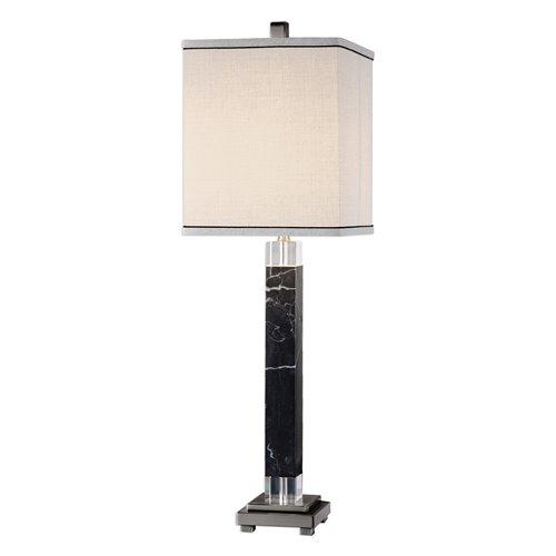 Uttermost Brigida Black Marble Accent Lamps