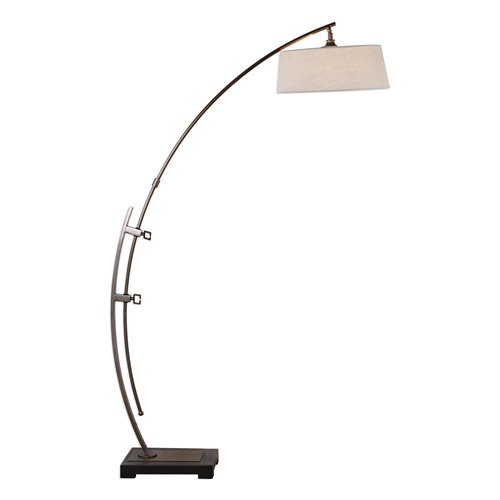Uttermost Calogero Bronze Arc Floor Lamp