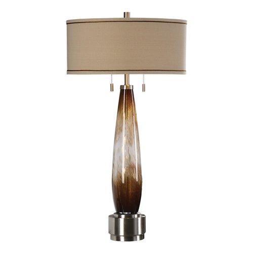 Uttermost Garonne Amber & Ivory Table Lamp