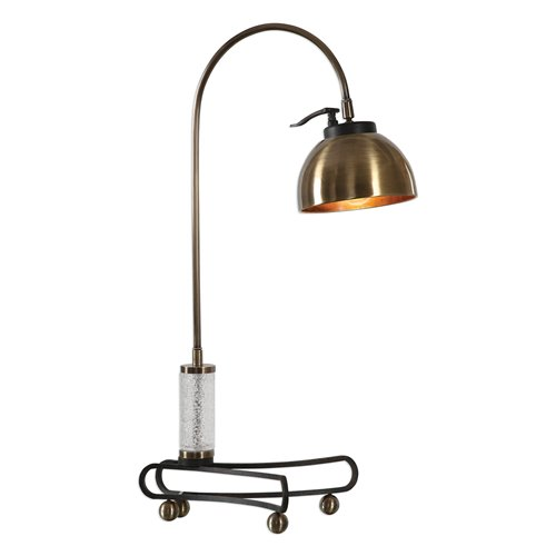 Uttermost Scalino Brass Plated Arch Lamp
