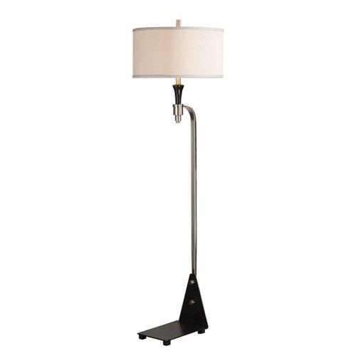 Uttermost Levally Brushed Nickel Floor Lamp