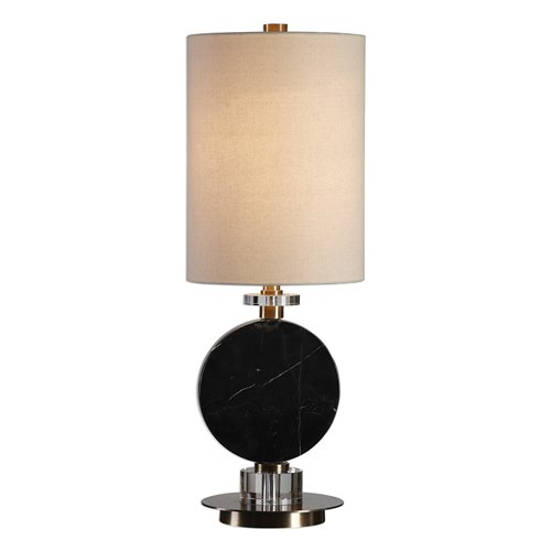 Uttermost Morena Black Marble Lamp