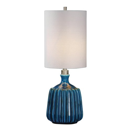 Uttermost Amaris Blue Ceramic Lamp
