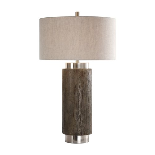 Uttermost Cheraw Wood Cylinder Lamp