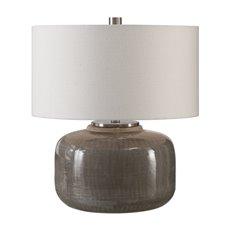 Uttermost Dhara Gray Glaze Lamp