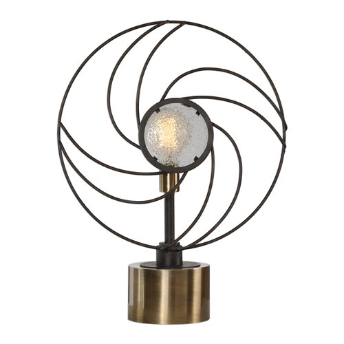 Uttermost Ventilador Black Accent Lamp