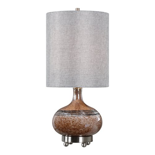 Uttermost Judsonia Rust Glass Accent Lamp