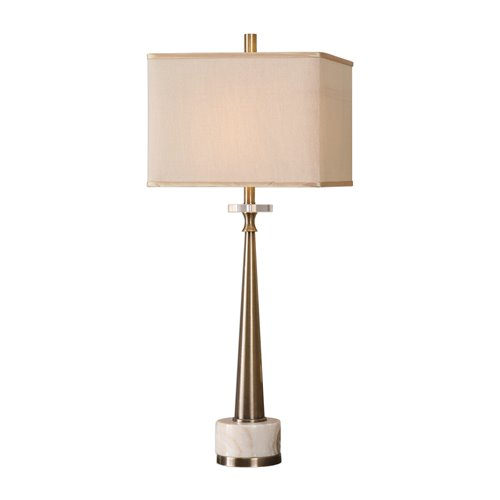 Uttermost Verner Tapered Brass Table Lamp