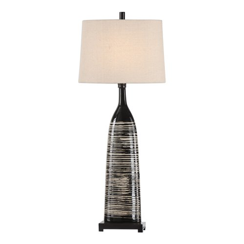 Uttermost Kanza Gloss Black Lamp