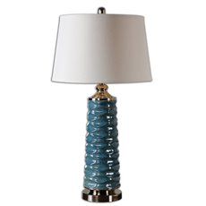Uttermost Delavan Rust Blue Table Lamp