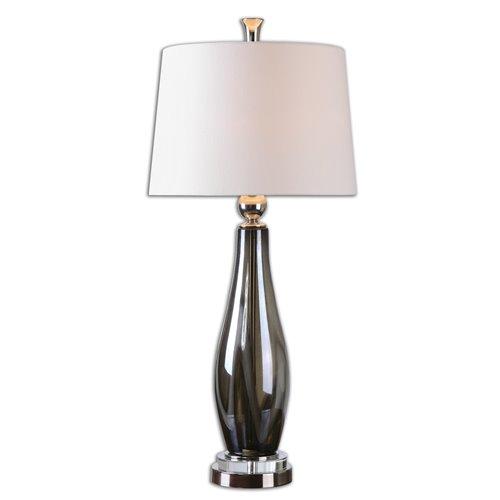 Uttermost Belinus Gray Glass Table Lamp