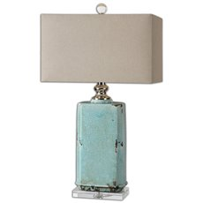 Uttermost Adalbern Blue Crackle Lamp