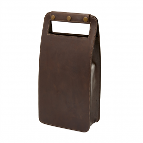 Leather Two Bottle Wine Carrier, Sonoma Cafe