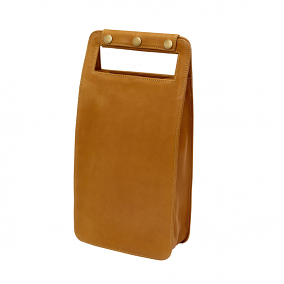Leather Two Bottle Wine Carrier, Sonoma Tan