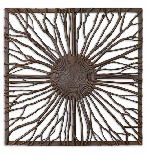 Uttermost Josiah Square Wooden Wall Art