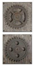 Uttermost Rustic Gears Wall Art, S/2