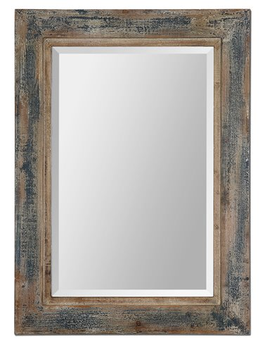 Uttermost Bozeman Distressed Blue Mirror