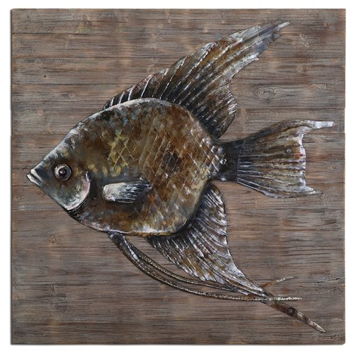 Uttermost Iron Fish Wall Art