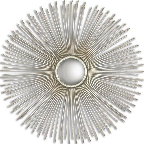 Uttermost Launa Round Silver Mirror
