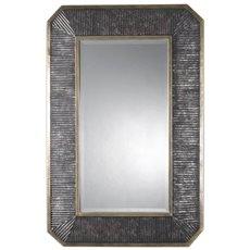 Uttermost Isaiah Ribbed Bronze Mirror