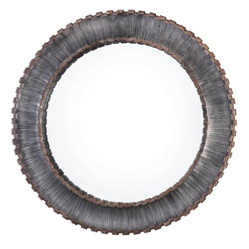 Uttermost Tanaina Silver Round Mirror