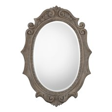 Uttermost Serafina Aged Scroll Oval Mirror