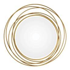 Uttermost Whirlwind Gold Round Mirror