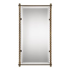 Uttermost Rosabel Antique Brass Rectangle Mirror