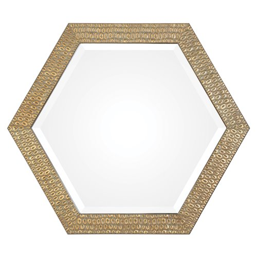 Uttermost Hanisha Honeycomb Gold Mirror